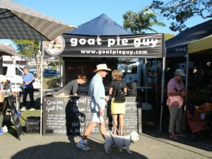 The Goat Pie Guy's stall