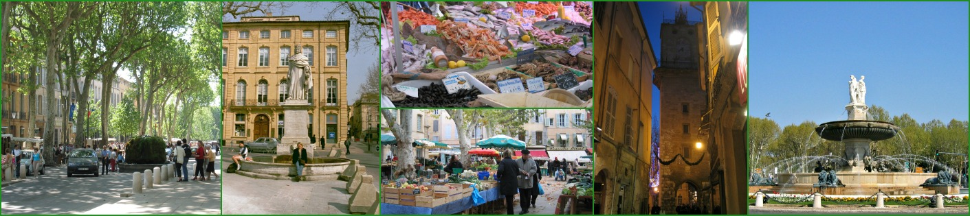 Collage of images from Aix-en-Provence