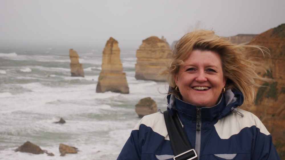Cathryn at the 12 Apostles, Victoria