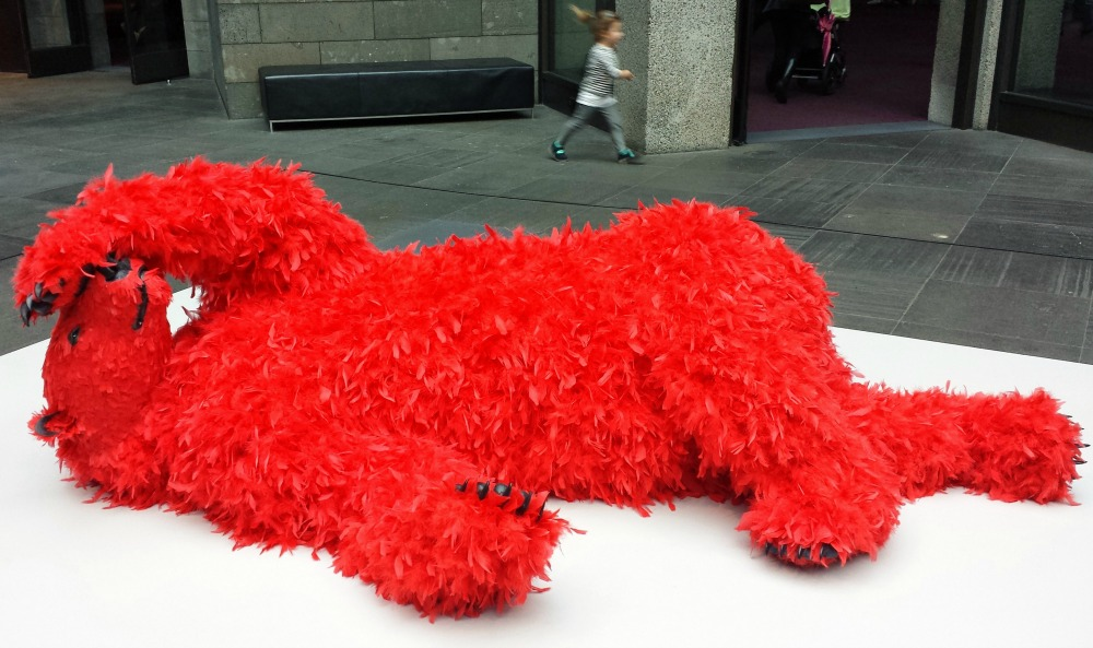 Red bear at the NGV