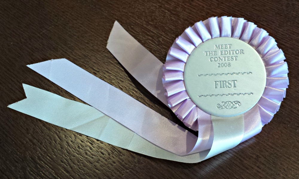 First prize meet the editor rosette