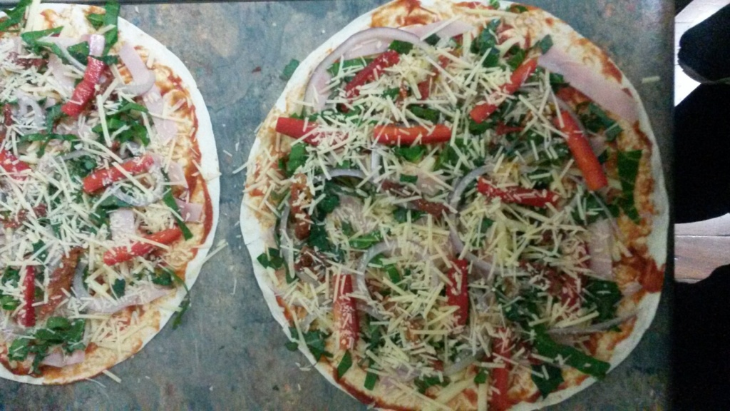 Pizza ready for baking