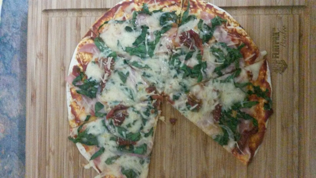 Fiona's cooked pizza