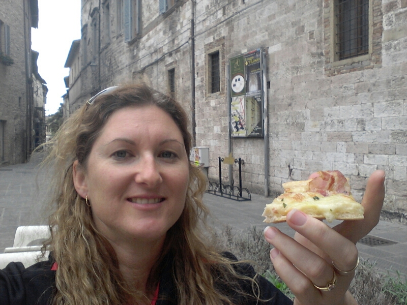 Pizza at Gubbio