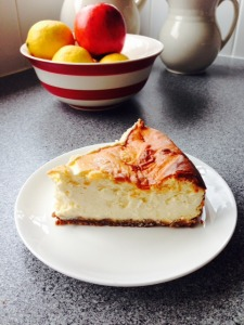 Slice of Jennie Jones's New York Cheesecake