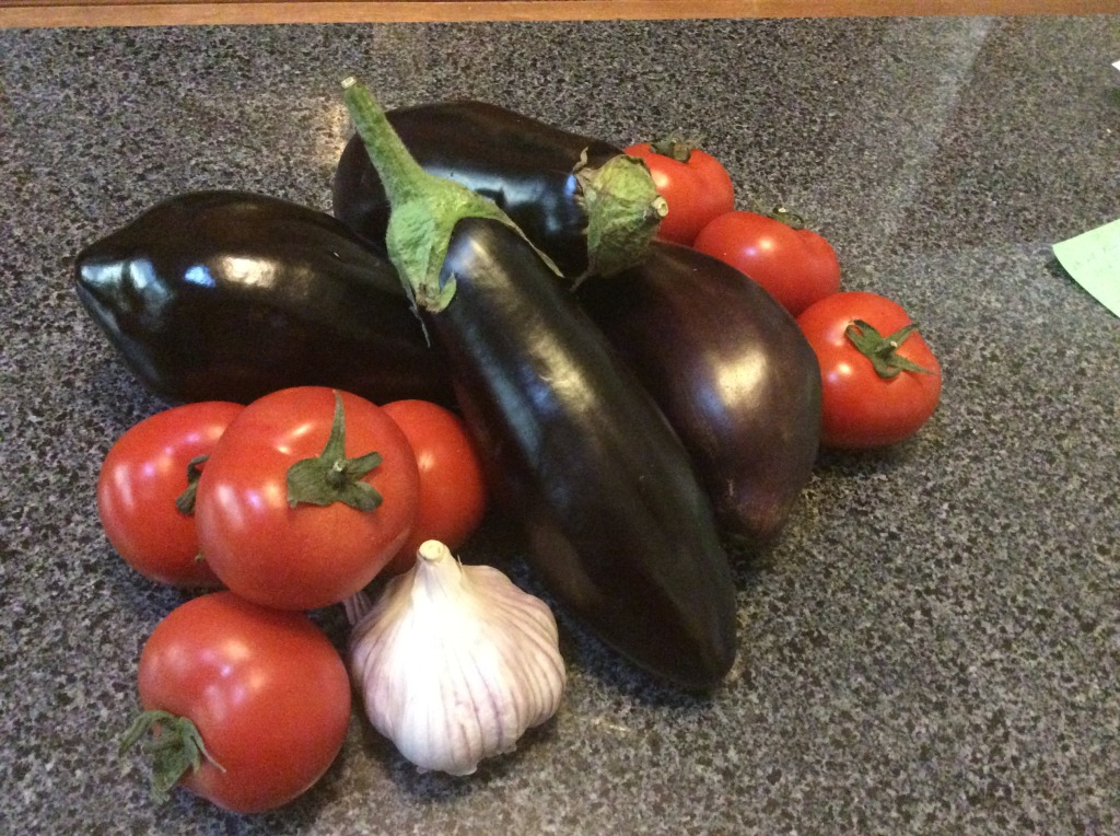 Ingredients for Antipasto di Melanzane