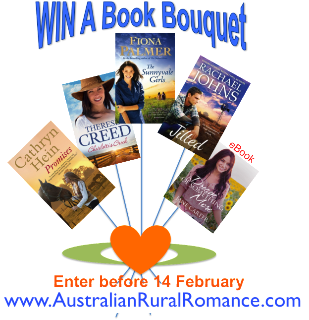 Australian rural romance book bouquet with Promises