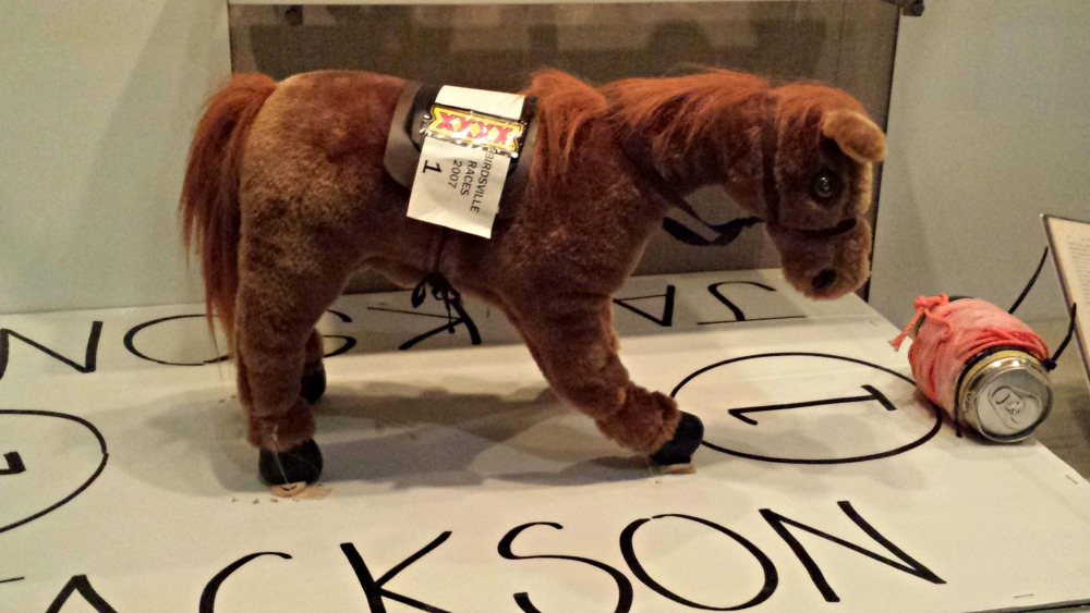 Jackson, the stuffed toy Birdsville races competitor