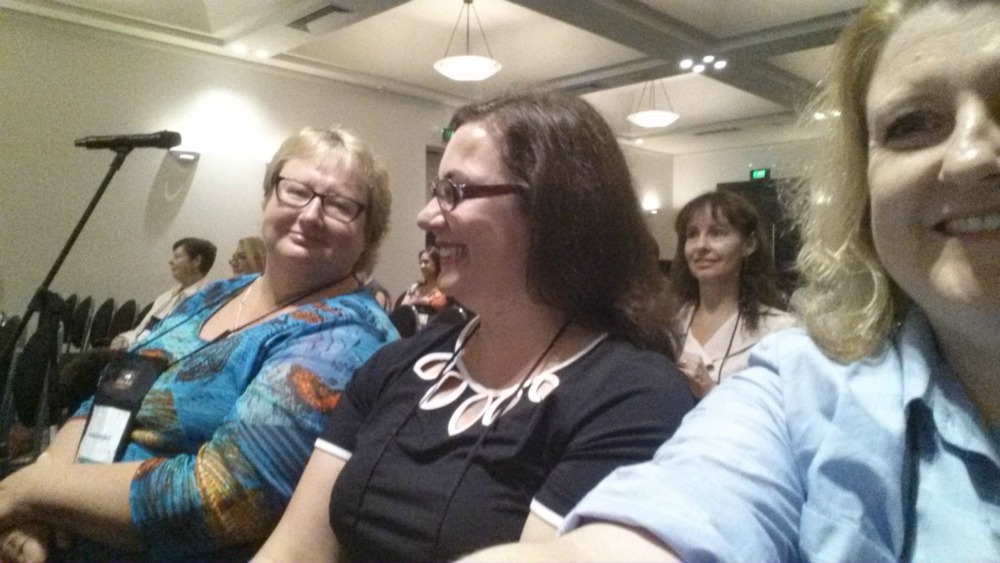 Anna Campbell, Christina Brooke and me enjoying the romantic destinations panel