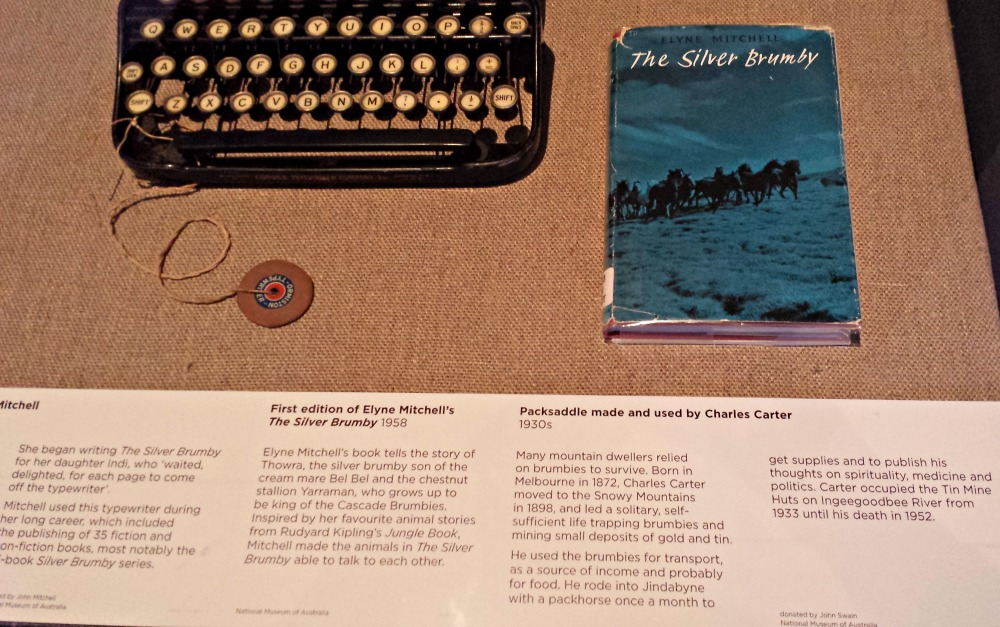 Typewriter used by Elyne Mitchell and a first edition copy of The SIlver Brumby