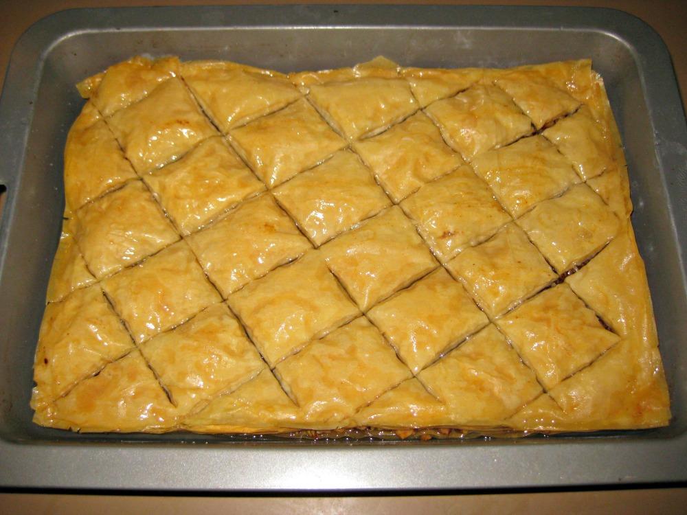 Annie West's baklava on Friday Feast