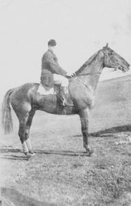 My grandfather, Lloyd 'Torchy' Hein on horseback.