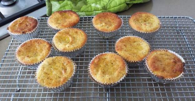 Orange and poppy seed syrup cakes