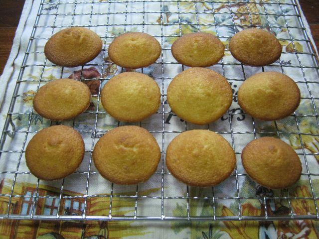 Baked, un-iced jelly cakes