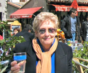 My mum, Patricia Hein at Carcassonne, France in 2004