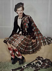 My mum, Patricia Hein in her Blue Lake Ladies Pipe Band uniform and bagpipes