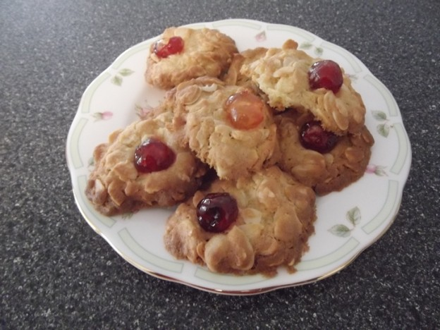 Anna Campbell's Cherry Almond Biscuits