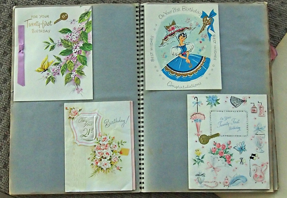 Scrap book of 21st birthday cards