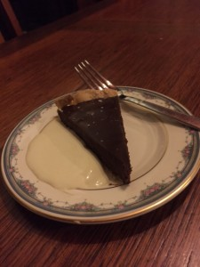 Slice of chocolate tart