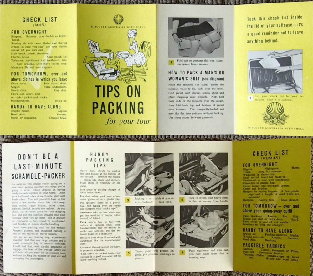 Shell brochure on packing.