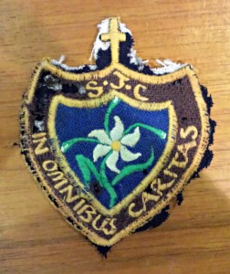 St Joseph's school blazer badge.