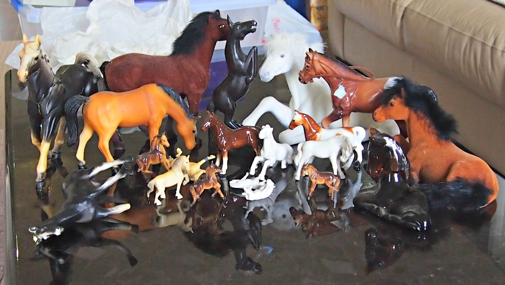 My collection of model horses.
