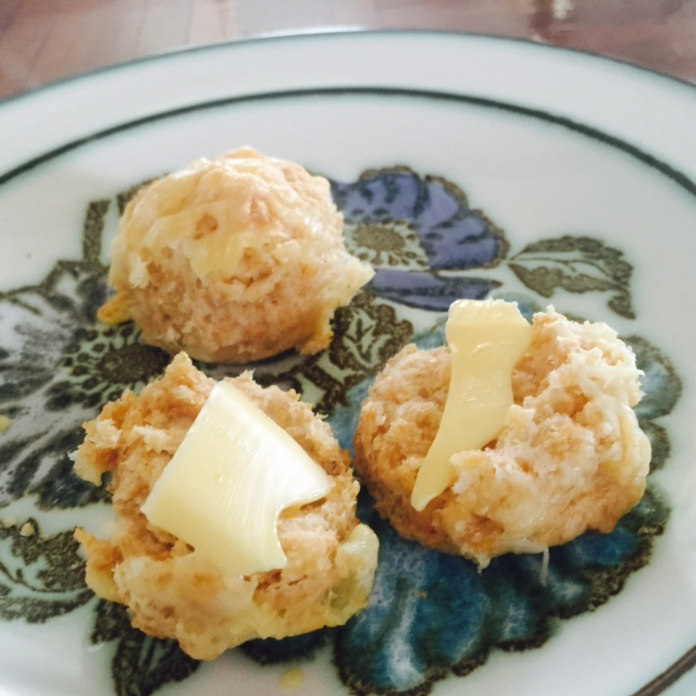 Buttered cheese scones