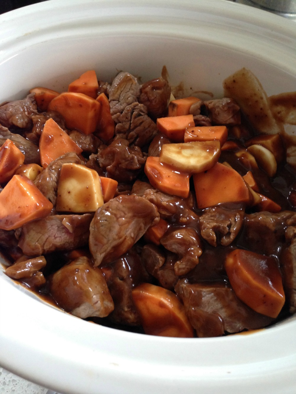 Stew ready for cooking
