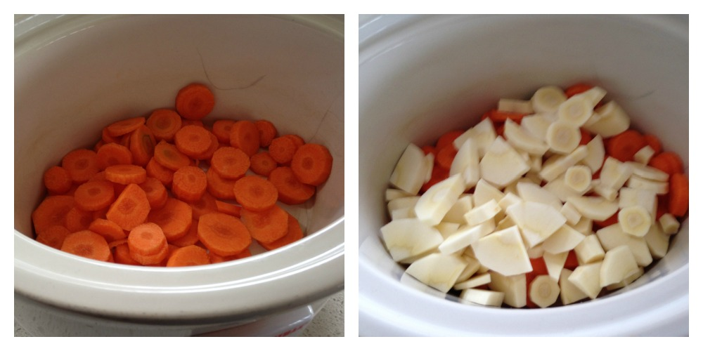 Layering veg in slow cooker