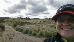 Cathryn Hein playing golf