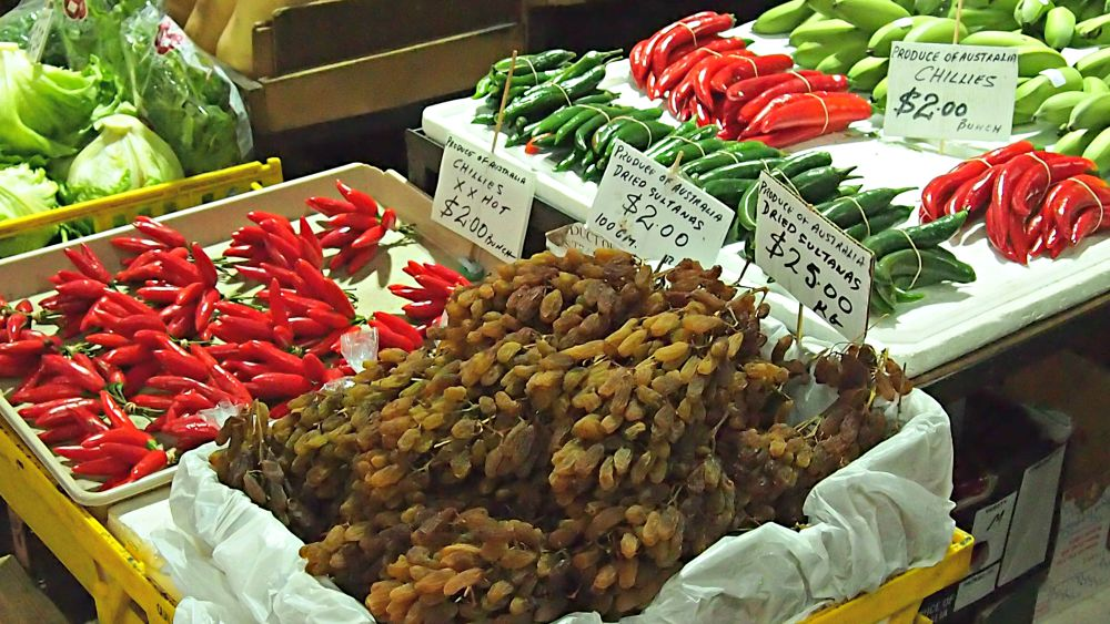 Chillies at Queen Victoria Market