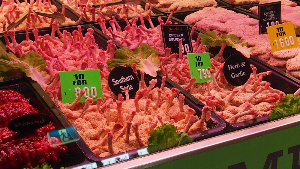Chicken nibbles at Queen Victoria Market