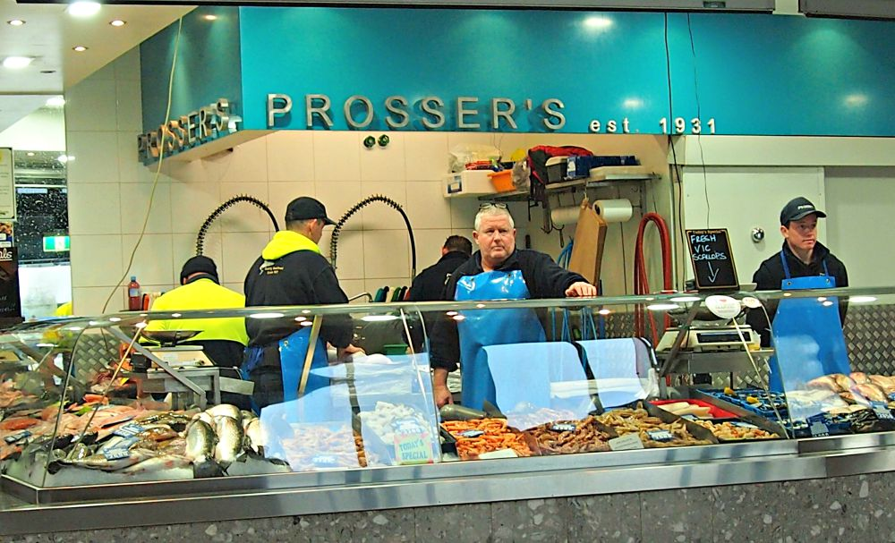 Fishmonger at Queen Victoria Market