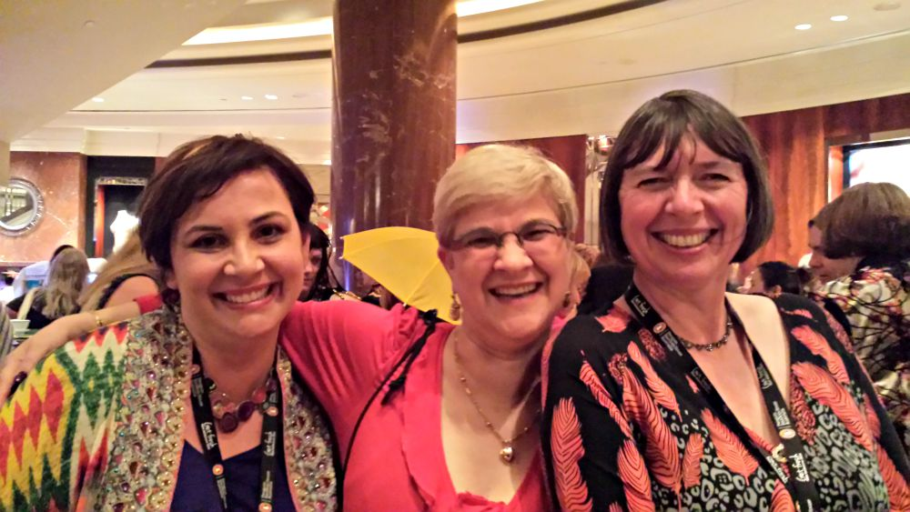 RWA Cocktail Party - Christina Brooke, Denise Rossetti and Annie West