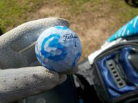 My new blue oveheart marked golf ball