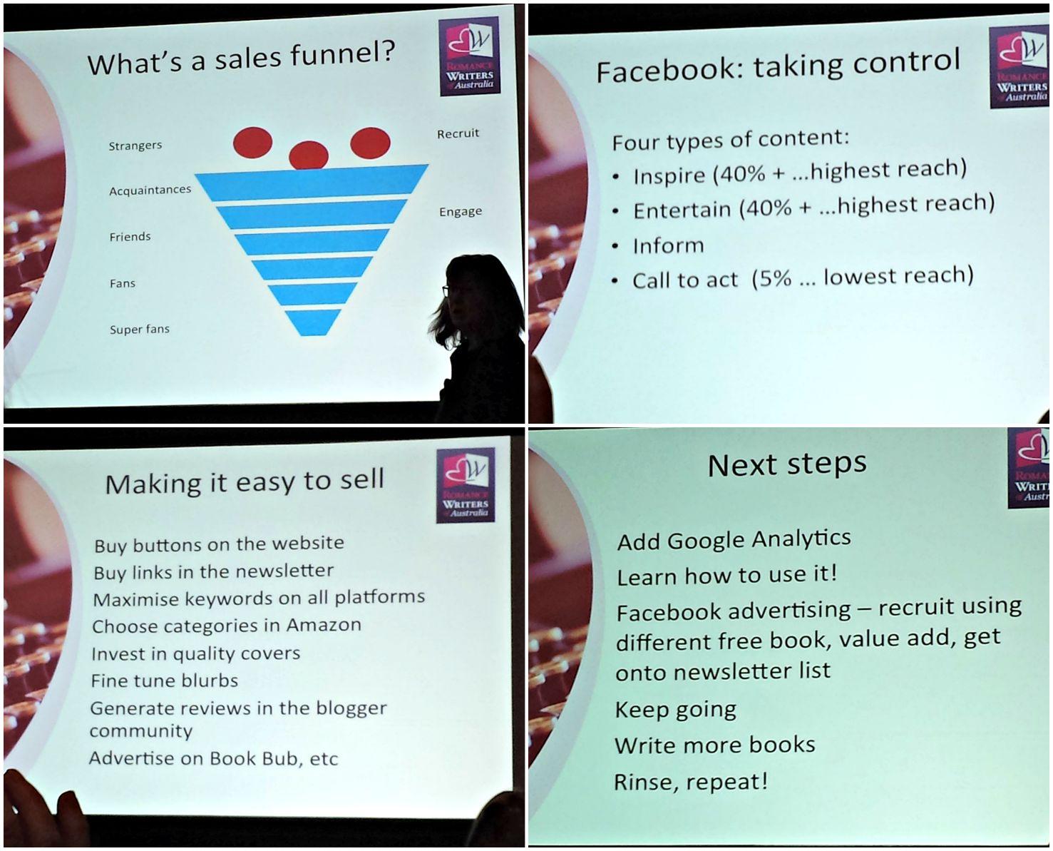 Marketing Masterclass - slide collage