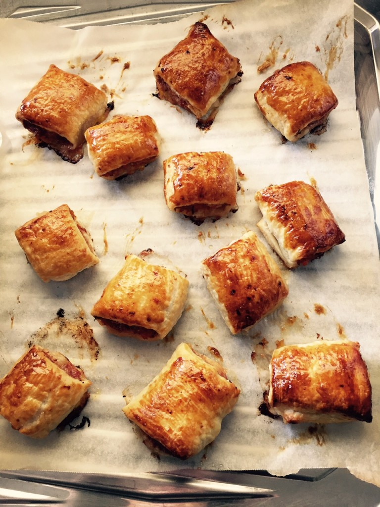 Mandy's lamb and fennel sausage rolls