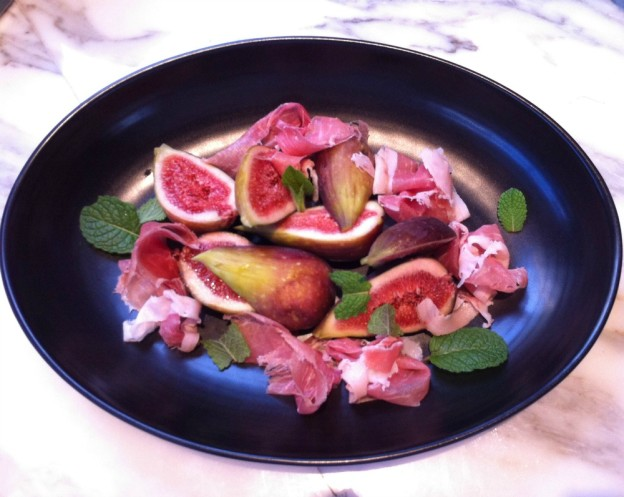 Fig, Prosciutto, Mint