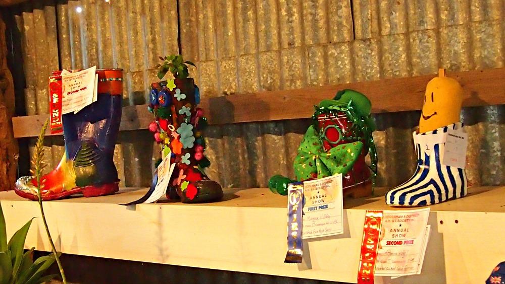 Decorated gumboots at Luddenham Show