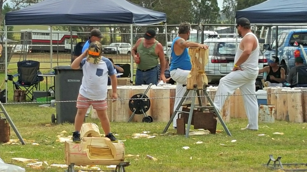 Woodchopping at Luddenham Show