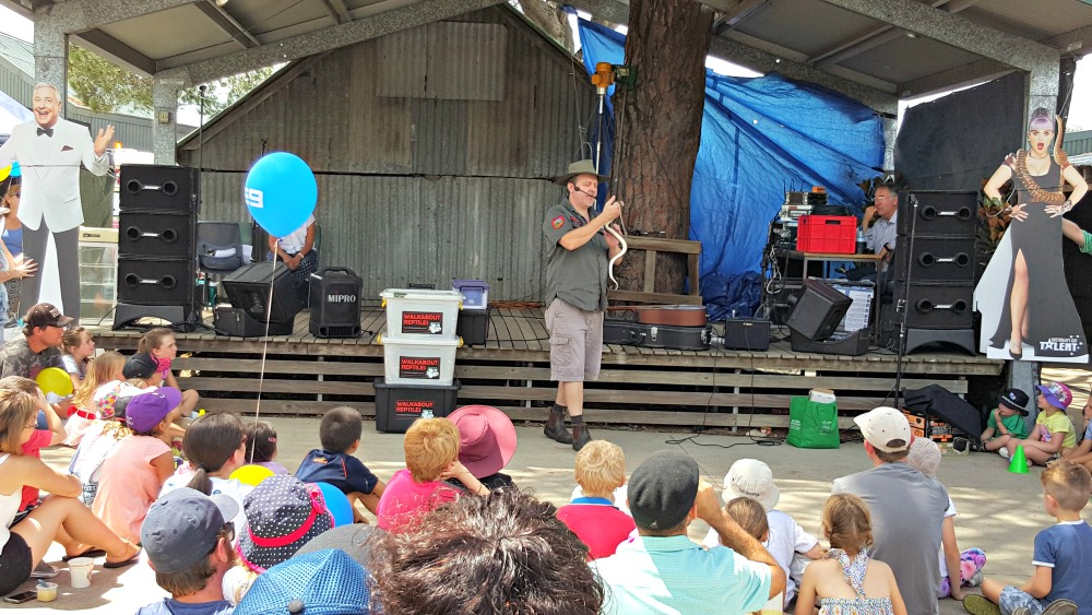 Reptile demonstration at Luddenham Show