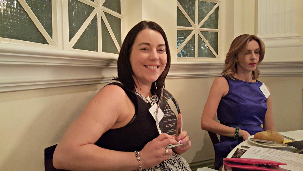 Rachael Johns with one of her ARR Awards