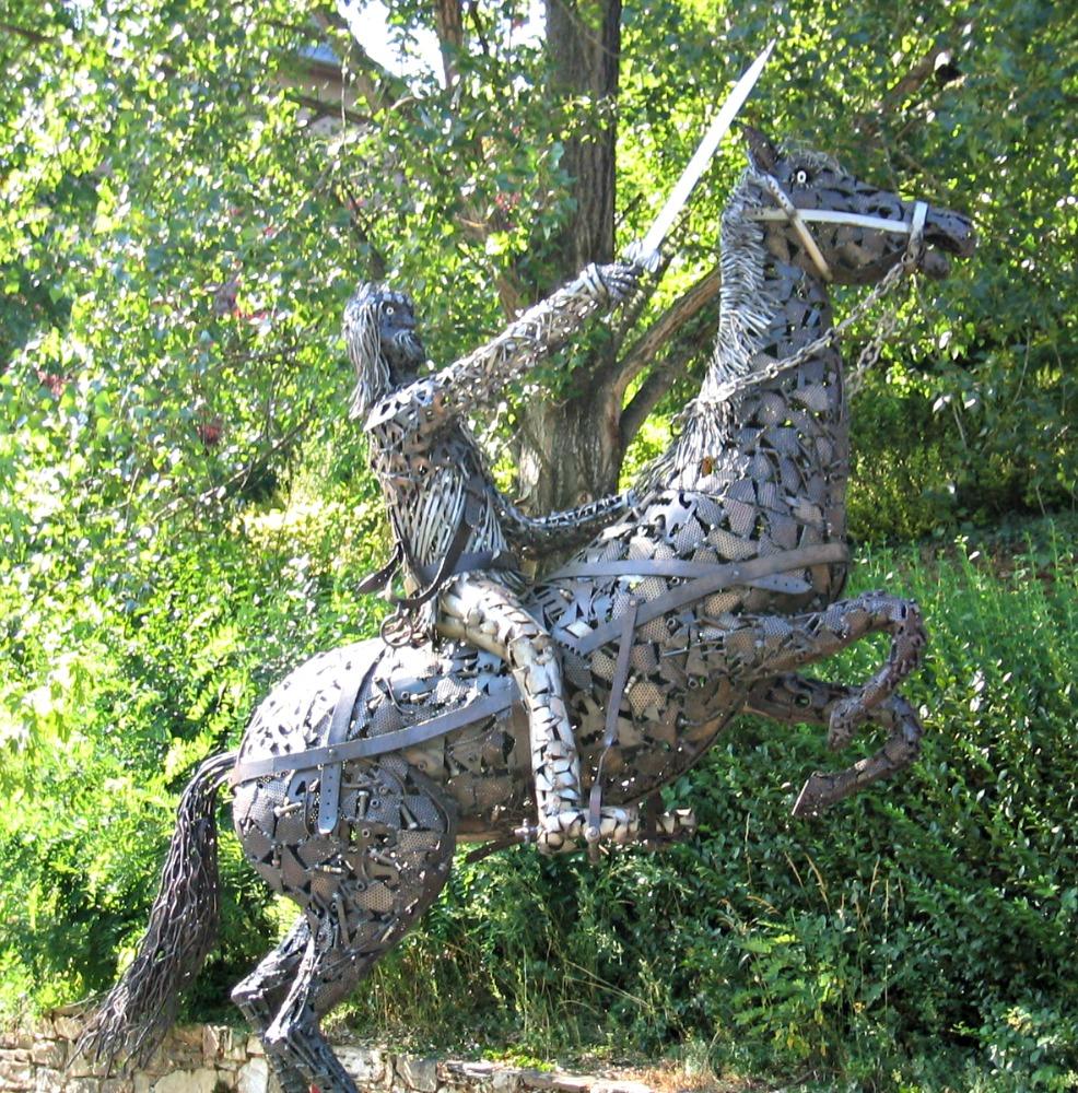 Conques Horse Statue