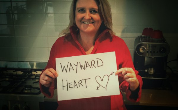Cathryn revealing WAYWARD HEART title