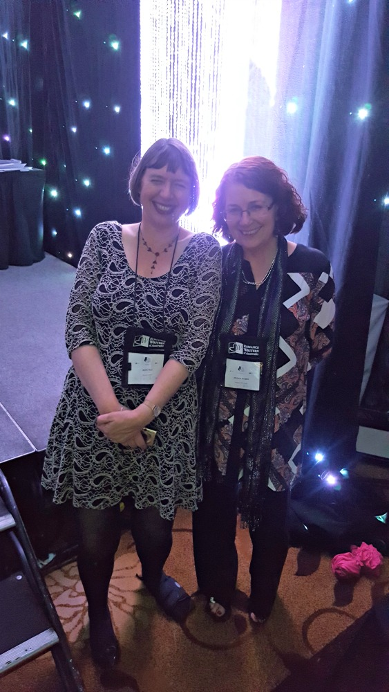 2016 RWA Awards Dinner - Annie West and Michelle Douglas