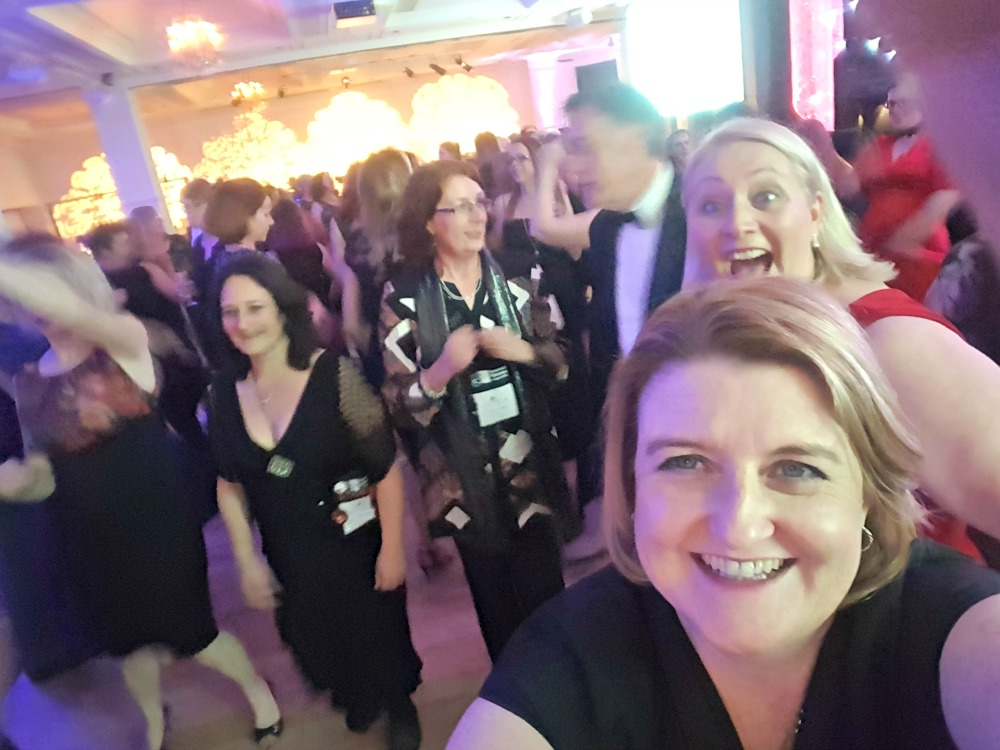 2016 RWA Awards Dinner - dancing and Shannon Curtis
