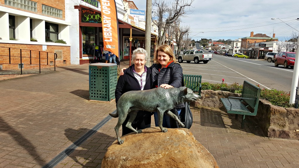 With Mum in Casterton