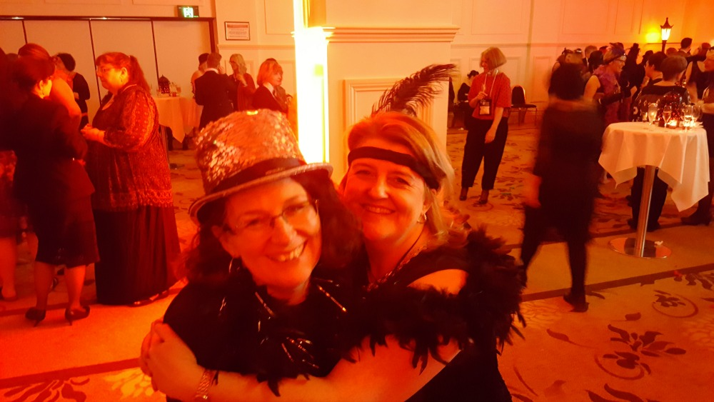 RWA 2016 Cocktail Party - Michelle Douglas and me