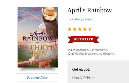 Screenshot of April's Rainbow's best seller banner on Kobo