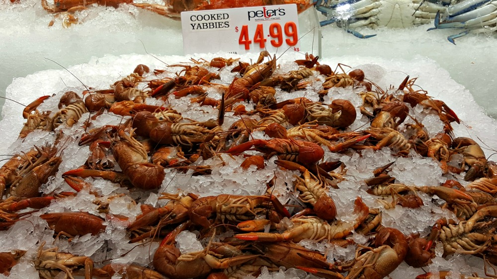 Cooked yabbies.